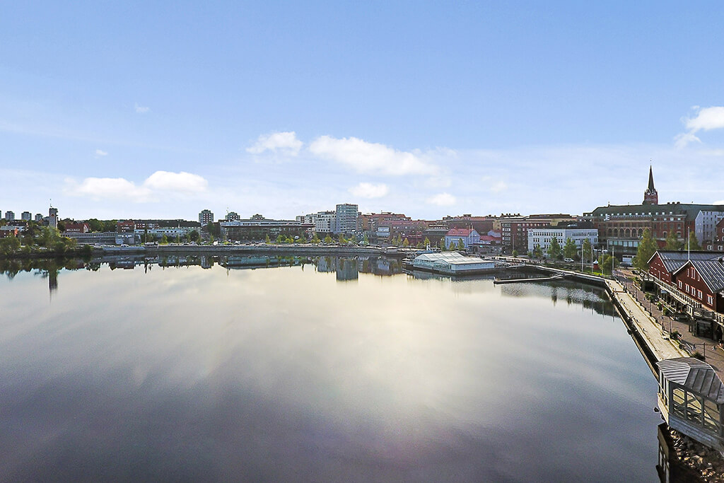 Norra hamn Luleå under sommaren